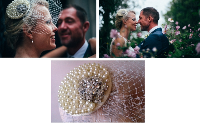 Bespoke bridal fascinator for Lauren. Wedding photos by Lucy Turnbull Photography