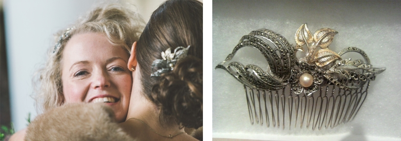 Bespoke bridesmaid's hair comb for Anna