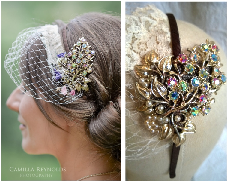 Caroline bespoke bridal fascinator