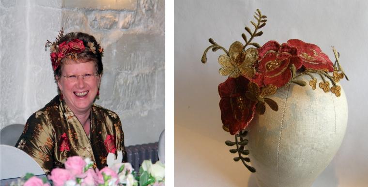 Jane bespoke floral fascinator