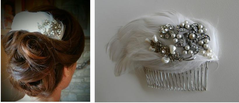 Liz bridal hair comb