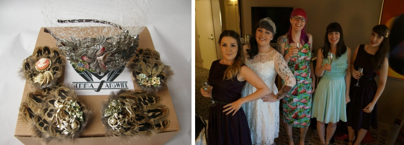 Sadee bridal side tiara & bridesmaids clips