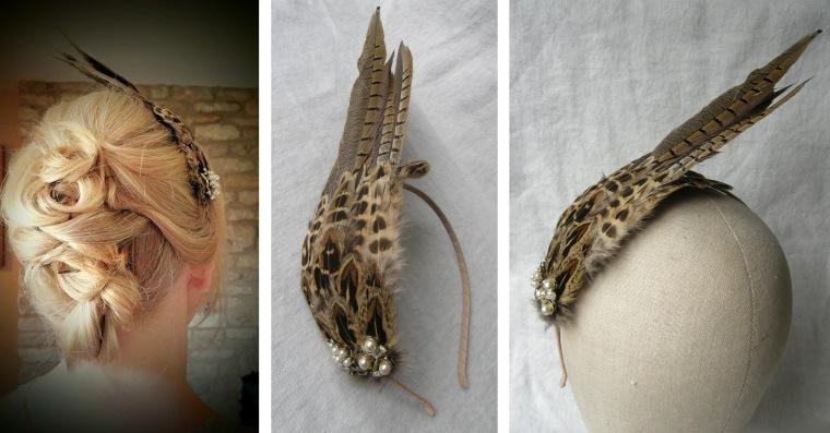 Sharon feather feather headdress
