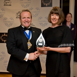 Receiving my Best Millinery Award from the Mayor of Hereford. Photo by Caz Holbrook Photography