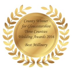 Three Counties Wedding Award - Best Bridal Millinery in Gloucestershire
