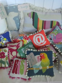 Mad in England needle point tapestry kits at the Selvedge Spring Fair