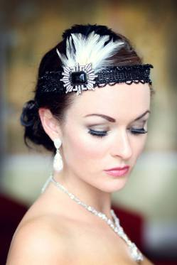 flapper-style-headband-with-vintage-feathers-jet-beadwork-photo-by-katie-hamilton-photography