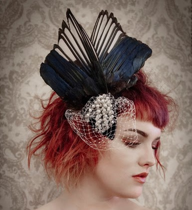 Bird wing headdress by Gemma Sangwine. Image by Su Barclay Photography. Hair & styling by Mandy Hawkins.