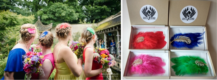 Bespoke bridesmaids hair combs