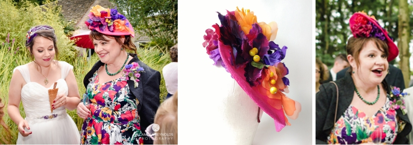 Bespoke hat for mother of the bride Helen