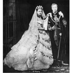 Queen Alexandria & Edward wedding day