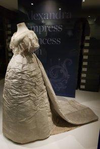 Queen Alexandria wedding dress pared down
