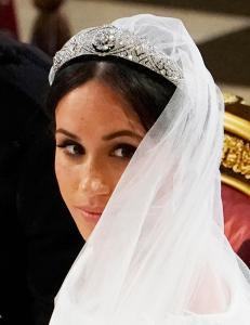 Megan Markle wears Queen Mary tiara