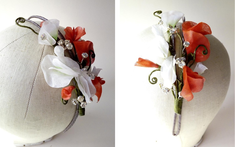 Sweet pea fascinator mother of the bride Jacquelyn