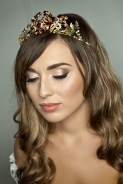 Vintage diamante bridal tiara made with costume jewellery
