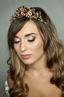 Vintage diamante bridal tiara made with costume jewellery