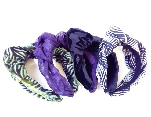 turban headbands made with upcycled fabrics
