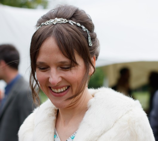Bespoke bridal hair vine headdress for Beatrice, made with vintage diamante by Gemma Sangwine (4a)
