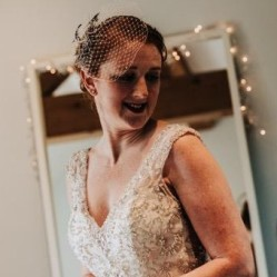 Bespoke bridal Pheasant feather fascinator with veil & heirloom brooch, for Laura, by Gemma Sangwine (10a)